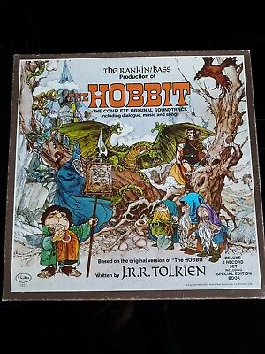 $25 • Buy 1977 The Hobbit Soundtrack Rankin Bass 2 LP Set With Booklet, Poster And Decals