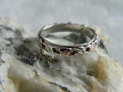 Clogau Sterling Silver & 9ct Rose Gold Tree Of Life Ring RRP £99.00 Size L • 69.95£