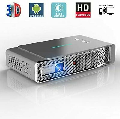 Toumei V5 3D DLP Android Video Smart Projector 3800LM 1080P Full HD Screen Share • 314.18£