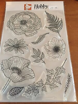 £13 • Buy Hobby Art A5 Clear Stamps Set, FLORAL MIX