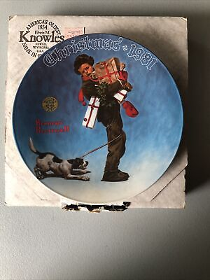 $ CDN19.41 • Buy Norman Rockwell Christmas Plate 1981