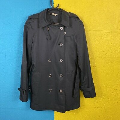 Women's Burberry Vintage Black Belted Jacket Small • 25£