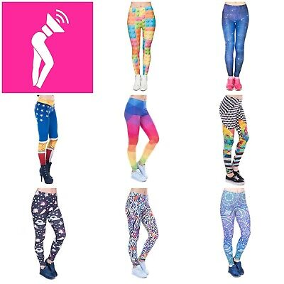 Stocking Filler: BNWT Colourful Funky Stretchy Yoga Leggings - Good Base Layer • 8.99£