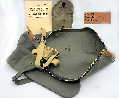 $999 • Buy 5pc M1 Carbine Manual Case Sling Oiler Butt Stock Ammo Pouch Boyt 43 M1 Rifle