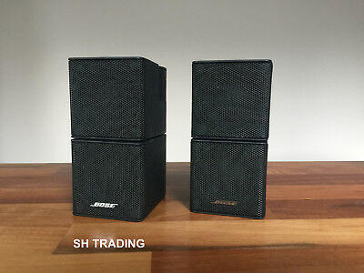 2 X Bose Black Jewel Double Cube Lifestyle Accoustimass Speakers 5 10 28 38 48  • 99£