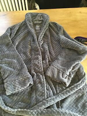 Love To Lounge Dressing Gown Size L Grey Velour  • 12£