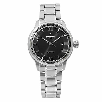 Eterna Adventic Stainless Steel Black Dial Automatic Mens Watch 2970.41.42.1704 • 417.92£