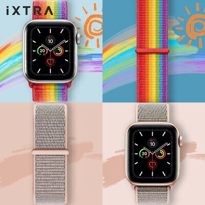 AU5.99 • Buy Nylon Woven Sport Strap Band 38 40 42 44mm For Apple Watch Series 1 2 3 4 5 6 SE
