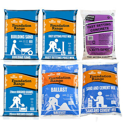 £11.99 • Buy Sand Cement Mix Fast Setting Post Fix Building Washed Gravel 20KG Bags Aggregate