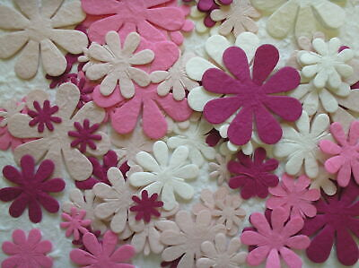 100 Diecut DAISY FLOWER Mulberry Paper CHOICE OF COLOURS & MIXES From CRAFTY COW • 4.50£