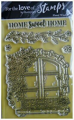 Hunkydory For The Love Of Clear Stamp  Set FLORAL WINDOW Home Sweet Home • 5.99£