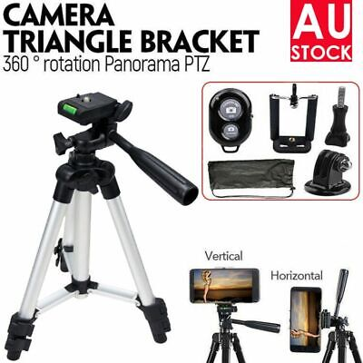 AU15.59 • Buy Professional Camera Tripod Stand Mount & Phone Holder For IPhone Samsung Huawei