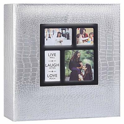 Ywlake Photo Album, 1000 Pockets 6x4 Photos, Extra Large Croc Silver Leather • 37.99£
