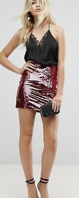ASOS Pink Brush Sequin Skirt. Size 12. Only Worn Once • 11£