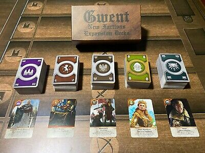 $ CDN126.25 • Buy GWENT CARDS (5 *New Faction EXPANSION* Decks) 460 Cards Witcher 3, Full Set