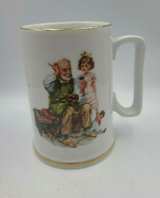 $ CDN19.06 • Buy Vintage Norman Rockwell Museum Collection Mug THE COBBLER Coffee Cup 1986