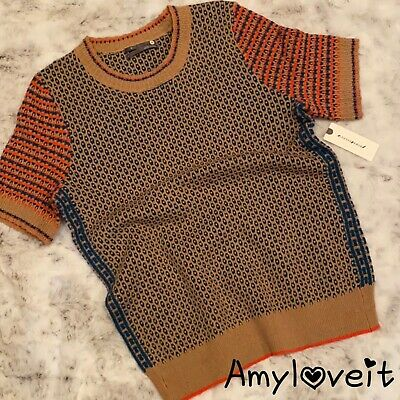 $ CDN82.78 • Buy Anthropologie Short Sleeve Sweater Top Honey Size XS NWT