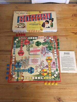 Vintage The Great Game Of Sorry With Instructions By John Waddington 1951 & 1963 • 19.99£