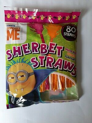£2.99 • Buy 80 X Despicable Me Sherbet Straws Berry Orange Flavours NEW Halloween Sweets