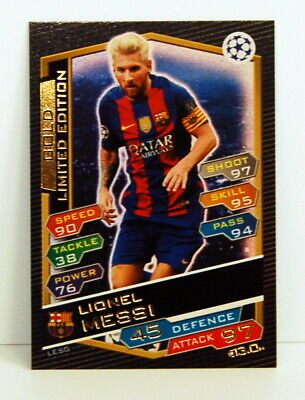 Match Attax Lionel Messi Gold Limited Edition • 2.30£