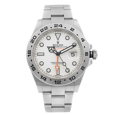 $ CDN17416.31 • Buy Rolex Exporer II GMT Stainless Steel White Dial Automatic Mens Watch 216570