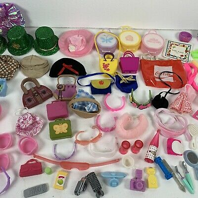 $ CDN84.33 • Buy Vintage Barbie Doll Accessories Lot Of 103 Hangers Hats Purses Glasses And More