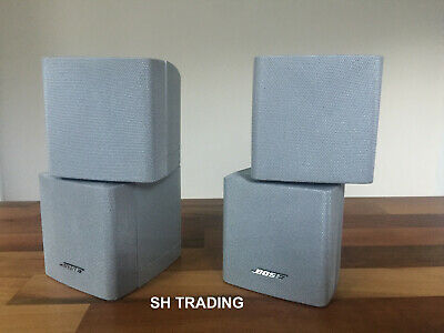 2 X BOSE SILVER DOUBLE CUBE SPEAKERS ACOUSTIMASS 5 10 15 LIFESTYLE 18 28 ETC • 95£