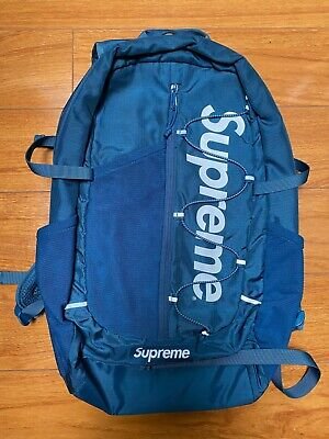 $ CDN317.18 • Buy Supreme SS17 Teal Cordura Backpack Preowned 100% Authentic