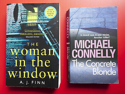 AU10 • Buy A.J. FINN The Woman In The Window MICHAEL CONNELLY The Concrete Blonde Thriller