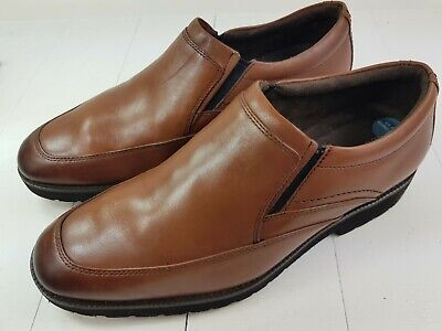 ROCKPORT Leather Mens Tan Brown Slip On Leather Shoes - UK 8.5 - Pre-worn - VGC • 26.50£