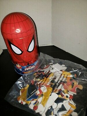 £5.52 • Buy MARVEL Ultimate SPIDERMAN Puzzle Spidey Shape Dome Tin 48 Pc Cardinal NEW
