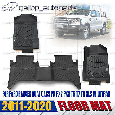 AU121.01 • Buy All Weather 3D TPE Floor Mats Water Proof For Ford Ranger PX PX2 PX3 Dual Cab