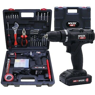 View Details Mylek 18V Cordless Drill Set Screwdriver Electric Li-Ion Combo DIY Hand Tool Kit • 44.95£