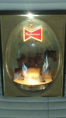 $ CDN162.93 • Buy Vintage Budweiser Famous Clydesdale Bubble Dome Light 20x15x7