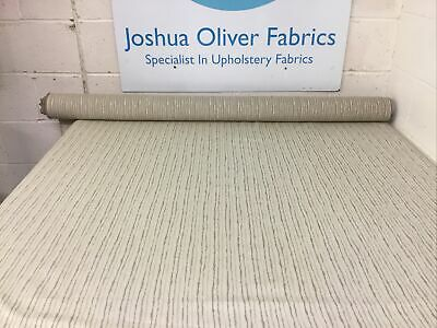 Taupe, Cream & Natural Stripe, Soft Furnishings Fabric, Free P&P • 5£