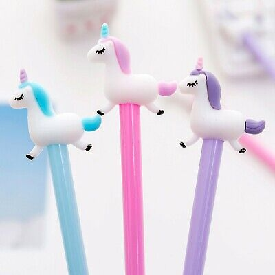 £2.45 • Buy Unicorn Pens,Cute Stationery Gift,School Supplies,Black Ink,1 Pc (assorted)