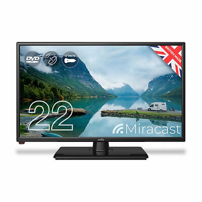 Cello 22  Inch Full HD LED 12 Volt TV With Freeview And Built-in DVD Player • 195.99£