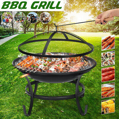 Fire Pit BBQ Grill Heater Outdoor Graden Firepit Brazier Patio Outside Ambiance • 48.88£