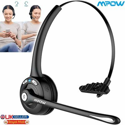 Stereo Headset Bluetooth Headphones Microphone Light Weight For PC Laptop Skype • 18.59£