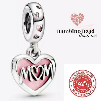 SPECIAL OFFER Mum Charm Pandora Fitting 925 Silver Sterling Silver 2 Piece Bead • 10.99£