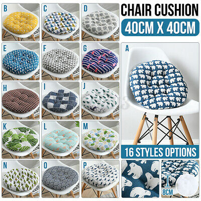 AU16.95 • Buy Seat Cushions Round Cotton Soft Chair Pad Mat Dining Garden Patio Home Office
