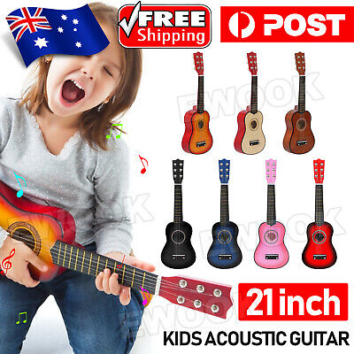 AU18.85 • Buy 21'' Kids Wood Acoustic Guitar 6 String Music Instruments Toys Children Gift