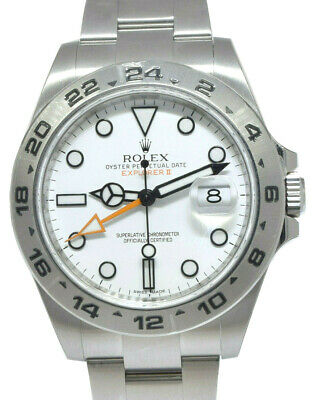 $ CDN13875.23 • Buy NOS Rolex Explorer II Stainless White Dial Men 42mm Watch Box/Papers 216570