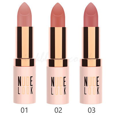 Golden Rose Nude Look Perfect Matte Lipstick - 3 Shades Velvety Finish Long Wear • 4.99£
