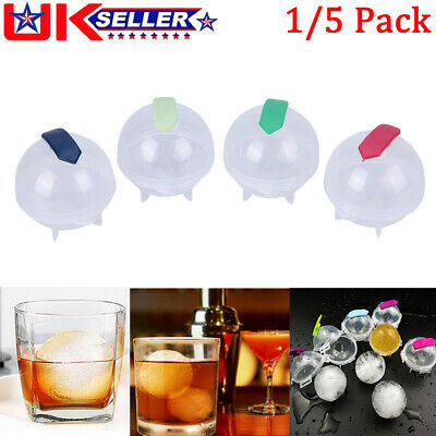 Big Large Ice Cube Maker Tray Rubber Mold Ball Sphere Whiskey DIY Round Mould • 5.60£