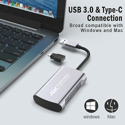 1080P 60fps HDMI Video Capture Card 4K HD USB 3.0 Mic Game Record Live Streaming • 33.99£