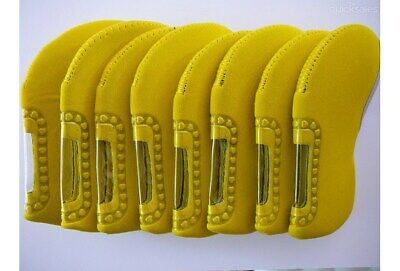 AU14.95 • Buy Set Of Yellow Golf Club Iron Head Covers, Fits All Brands Of Clubs