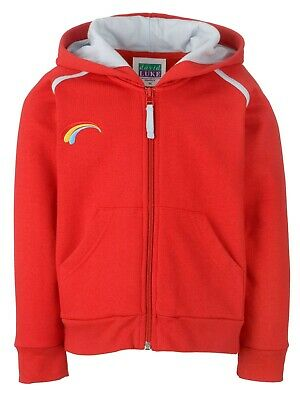 Rainbow Rainbows Girl Guiding Uniform Hoodie Red Size XS L Girls FREE POST • 14.95£