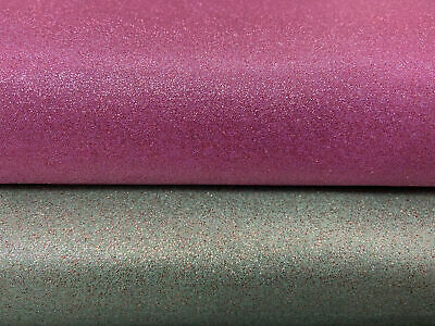 Christmas Glitter Fabric Cotton Fabric By 1/4 Metre* Mint Green/Pink Sparkly • 0.99£