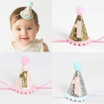 UK Toddlers Baby Kids Circular Cone Birthday Hat Birthday Party Crowns Hats New • 5.16£